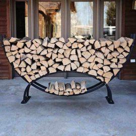 Suport semicerc mare lemne de foc